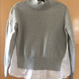 French Connection Grey Sweater/Shirt details
